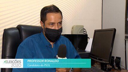 Candidato Professor Ronaldo (Psol) fala sobre a saúde para cidade de Taubaté