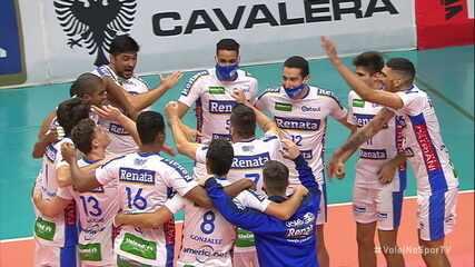 Os pontos finais de Taubaté 1 x 3 Campinas pela final do Campeonato Paulista de vôlei masculino