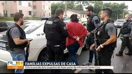 Polícia prende dois suspeitos de fazer parte da milícia de Santa Cruz