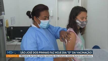São José dos Pinhais participa do Dia D da Vacinação