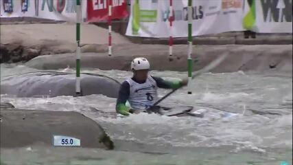 Pepê Gonçalves leva o bronze na Copa do Mundo de canoagem slalom
