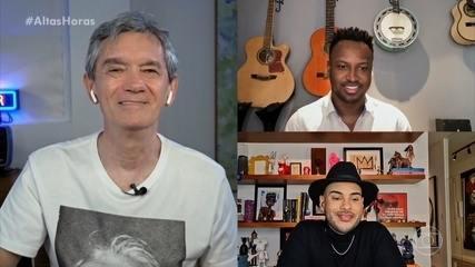Thiaguinho e Hugo Gloss falam sobre o lado bom e ruim das redes sociais
