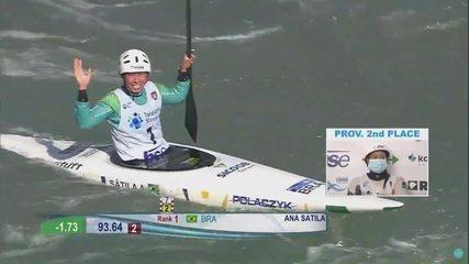 Ana Sátila é campeã no C1 na Copa do Mundo de canoagem slalom, na Eslovênia