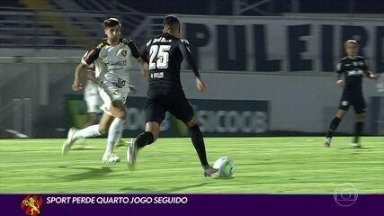 Sport perde quarto jogo seguido na Série A