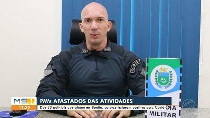 Covid afasta 14 policiais militares em Bonito
