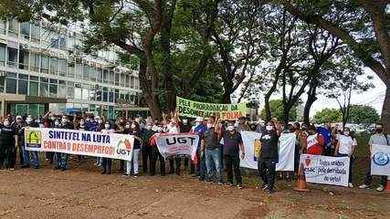 Manifestação em Brasília pela prorrogação da desoneração da folha de empresas