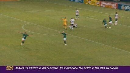 Manaus vence o Botafogo-PB por 3 a 2 e respira na Série C; veja como foi o jogo