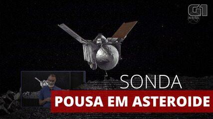 Nave espacial da Nasa captura amostra de asteroide em operação histórica