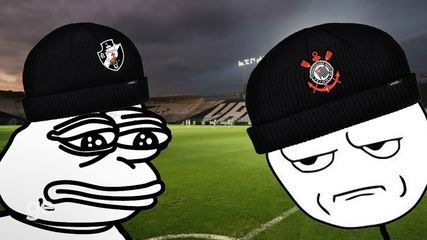 Vasco e Corinthians duelam de mãos dadas, mas sem tanta broderagem...