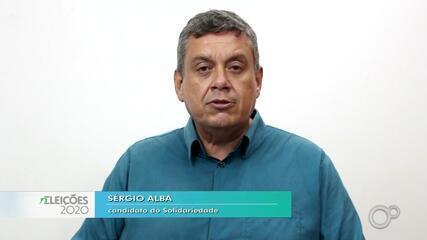 Candidato Sérgio Alba fala sobre as propostas para a saúde em Bauru