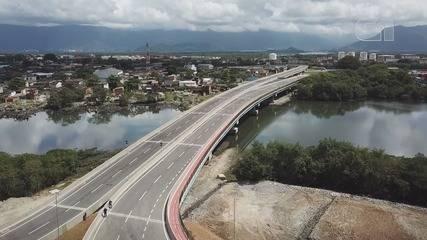 Santos inaugura novos acessos viários na Zona Noroeste