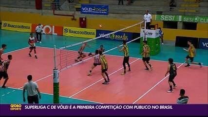 Superliga C de vôlei é o primeiro torneio com público no Brasil