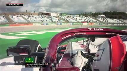 Giovinazzi sai da pista em treino do GP de Portugal