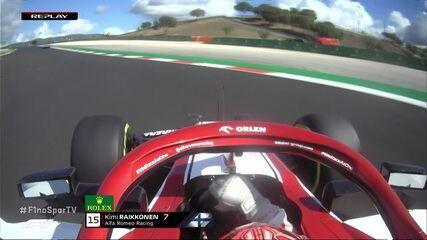 Raikkonen roda na pista em treino do GP de Portugal