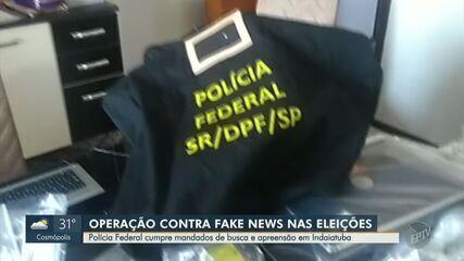 PF cumpre mandados em Indaiatuba contra produção de notícias falsas com fins eleitorais