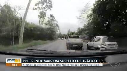 Homem que fugiu após perseguição da PRF foi preso em Viana