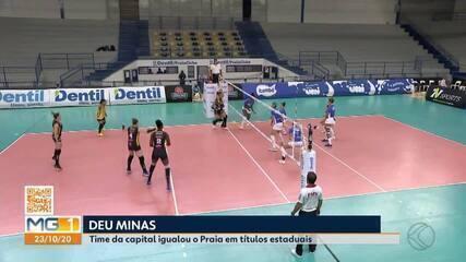 Praia Clube perde de virada para o Minas na final do Mineiro e fica com o vice