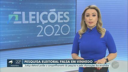 Justiça eleitoral proíbe divulgação de pesquisa falsa sobre eleição em Vinhedo