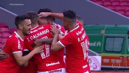 Gols do Fantástico: Flamengo e Internacional empatam e segue