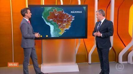 Frente fria pode provocar temporais no Rio de Janeiro, Espírito Santo, Bahia e Minas Gerais