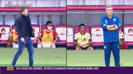 Em jogo movimentado, Inter sofre gol no final e empata com o Flamengo em 2 a 2