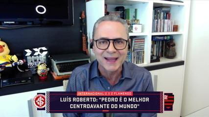 """Luís Roberto exalta a fase de Pedro, do Flamengo: """"É melhor que o Lewandowski"""""""