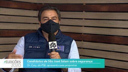 Candidato Dr. Cury (PSB) fala sobre a segurança para cidade de São José