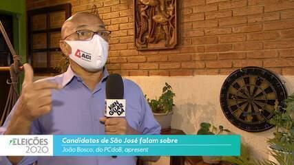 Candidato João Bosco (PCdoB) fala sobre a segurança para cidade de São José