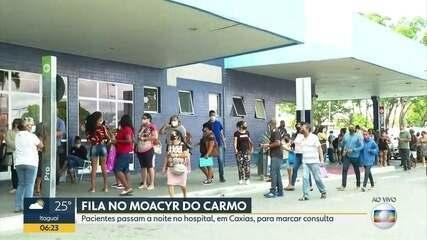 Moradores de Caxias sofrem com fila no Moacyr do Carmo