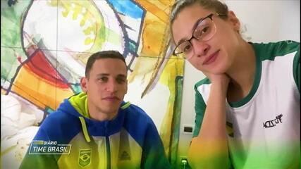 Diário Time Brasil: Ícaro Miguel e Milena Titoneli mostram rotina de treinos na Sérvia