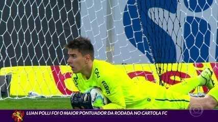 Luan Polli segura o Atlético-MG e fica com maior pontuação do Cartola