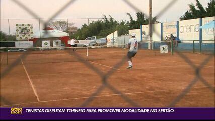 Tenistas disputam torneio para promoção da modalidade no Sertão paraibano