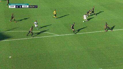 Melhores momentos de Santos 0 x 0 Ceará pelas oitavas de final da Copa do Brasil