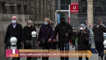 Aumentam casos de Covid-19 na Europa e países ampliam medidas restritivas