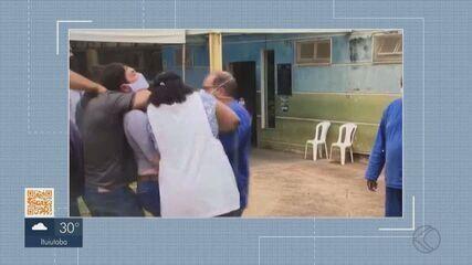 MG1 mostra equipe da TV Integração sendo agredida durante reportagem em Prata