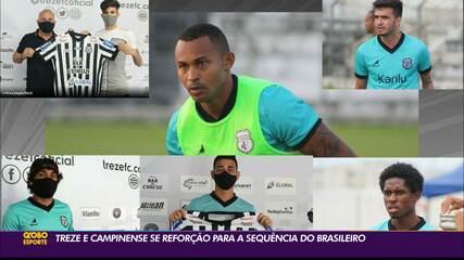 """Campinense e Treze """"trocam"""" reforços durante o Campeonato Brasileiro"""