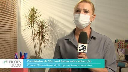Candidata Coronel Eliane Nikoluk (PL) fala sobre educação para cidade de São José