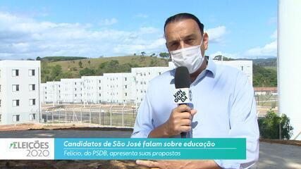 Candidato Felício (PSDB) fala sobre educação para cidade de São José