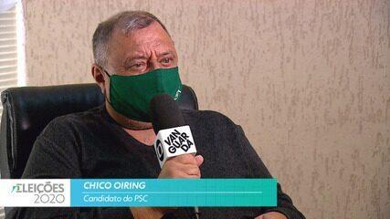 Candidato Chico Oiring (PSC) fala sobre a segurança para cidade de Taubaté