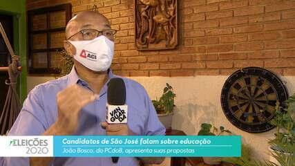 Candidato João Bosco (PCdoB) fala sobre a educação para cidade de São José