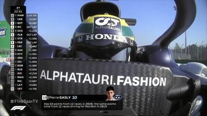 Gasly tem capacete em homenagem a Senna no GP da Emilia-Romagna