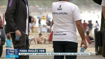 Praia em Balneário Camboriú tem aglomeração; Dagmara Spautz comenta