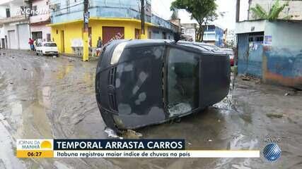 Chuva forte causa estragos e deixa famílias desabrigadas em Itabuna, no sul do estado