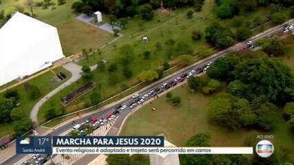 Marcha para Jesus é adaptada em 2020 e trajeto será percorrido por carros