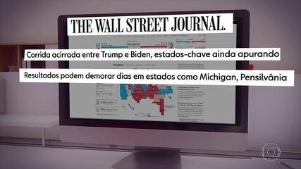 Governos da Europa e a imprensa reagem ao resultado parcial das eleições americanas