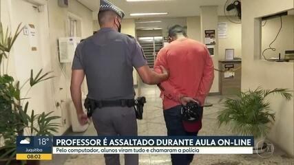 Professor tem casa invadida durante aula online em SP e alunos acionam a polícia