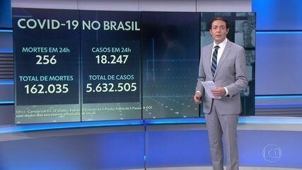 Brasil chega a 162 mil mortos por Covid, mostram dados do consórcio de imprensa