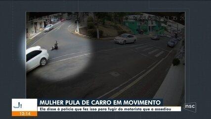 Mulher pula de carro em movimento para fugir de assedio de motorista em Videira