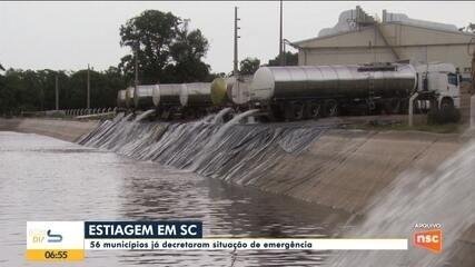 Estiagem em SC: 56 municípios decretaram situação de emergência