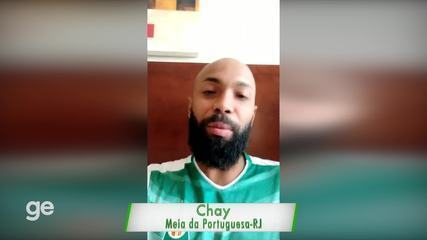 Chay fala sobre a jogada do gol da Portuguesa contra o Naional